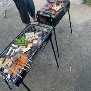 お庭BBQ!